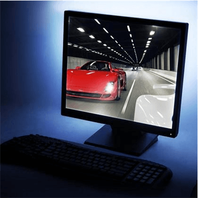 USB led strips achter monitor